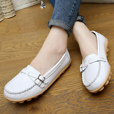 Casual large size shoes flat shoes women leather shoes Peas mother shoes white