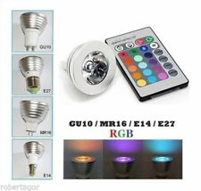 FARETTO LED LUCE RGB PROGRAMMABILE MULTICOLOR E27 GU10 E14 MR16 CON TELECOMANDO