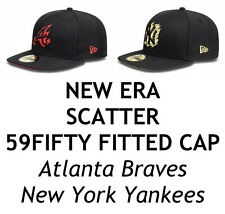 NEW ERA SCATTER MLB 59FIFTY FITTED CAP - ATLANTA BRAVES/NEW YORK YANKEES