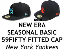 NEW ERA SEASONAL BASIC 59FIFTY FITTED CAP - NEW YORK YANKEES - ASSORTED COLOURS