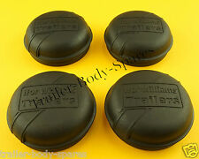FREE 1st Class Post -4  75mm BLACK Dust Grease Hub Cap IFOR WILLIAMS Trailers