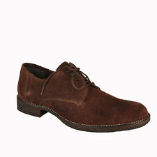 Salt N Pepper 14-170 Ray Dark Brown Suede Leather lace up Shoes