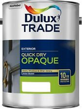 Dulux Trade Weathershield Aquatech Opaque Black / White ALL SIZES 5L / 2.5L / 1L