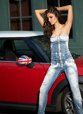 By Alina Salopette Jean Bandeau Combinaison Jeans Overall Catsuit Damenoverall