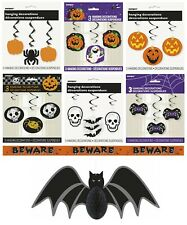 HALLOWEEN PARTY Hanging Swirls & Honeycomb Decorations {Pumpkins Skeletons Bats}