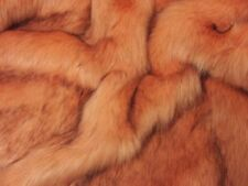 Super Luxury Faux Fur Fabric Material - SUPERIOR LONG PILE PEACH