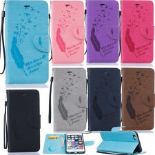 Magnetic Flip Wallet Case for Various Phones Protective Stand Cover Skin+Strap