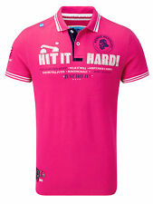 Bunker Mentality Mens Hit It Hard Clubhouse Polo - Hot Pink RRP £50