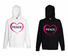 Herren Peace Frieden Pulli Kapuzen Sweatshirt Pullover Fruit of the loom Hoodie