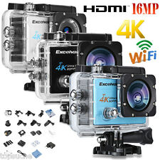 "Wifi 4K 16MP 2"" FHD 1080P ActionCam Sport Video Kamera DV Helmkamera Wasserdicht"