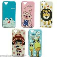 For Apple iphone 6 6S Silicone Cute Characters back case cover  + Screenguard