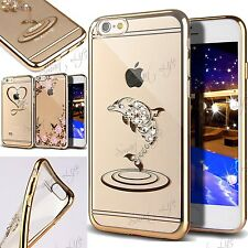 Perlina Strass Stone Metallica Paraurti Custodia Cover In Tpu per iPhone 6, 6S/