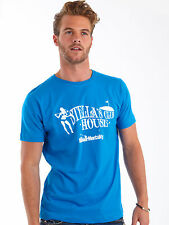 Bunker Mentality Mens Stella's Clubhouse T-Shirt - Electric Blue RRP £25