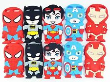 For iPod Touch 4 5 6 3D Cartoon Super Hero Silicone Rubber Gel Soft Cover Case
