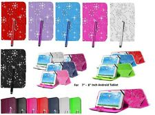 """Universal Flip Leather Case Cover Stand For 7"""" - 8"""" Inch Any Android Tablet"""