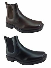 Mens Faux Leather Chelsea Desert Dealer Ankle Pull On Boots Shoes Size- Brian