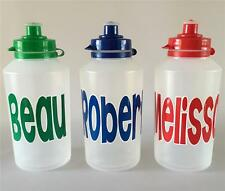 """1 X PERSONALISED DRINK BOTTLE - ANY NAME - """"NO LEAKS"""" SCHOOL. 500ML (BCL6)"""