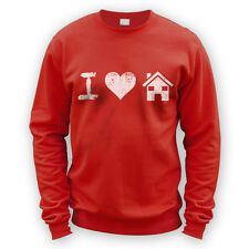 I Love House Music Sweater -x8 Colours- Dance Club DJ Rave Festival Beat