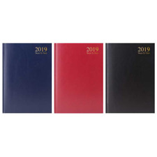 2019 A5 Size Week to View Hardback Value Range Diary - 3183
