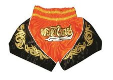 Muay Thai Shorts, Kickbox Hose, Thai Boxen, K1 Shorts,100%Satin Orange Gr. S-L
