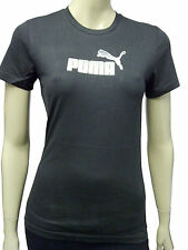 Womens Puma T-Shirt Top White Dot Print - Black Size 10 WP34