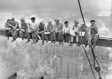 Lunch on skyscraper poster Men on girder New York poster size A1,A2,A3,A4,A5