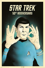 Star Trek Spock 5-0 50th Anniversary Film Movie Poster Druck - Größe 61x91,5 cm