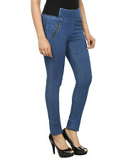 FASHION CULT Blue Denim Lycra Jeggings