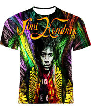 Jimi Hendrix T-Shirt All Over Rock Men All Size