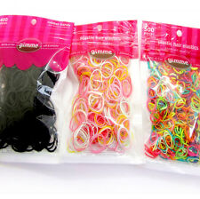 One Bag Mixed Colors Girl Baby Rubber Hairband Ponytail Holder Elastic Hair Tie