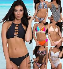 Womens Swimwear Sexy One-Piece Swimsuit Push Up Bikini Set Padded Bra Monokini