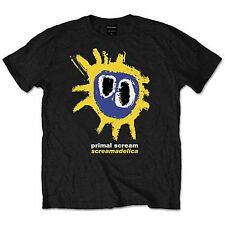 Primal Scream Black Yellow Screamadelica OFFICIAL Unisex T-shirt up to XXL 11C