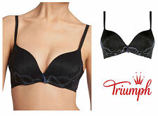 Triumph Amour Spotlight WHU Magic Wire Bra 10152968 Black/Blue * New Lingerie