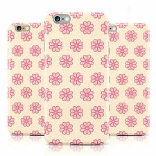 FLOWER STYLE PINK PATTERN CREAM PRINT CASE COVER FOR APPLE IPHONE MOBILE PHONES