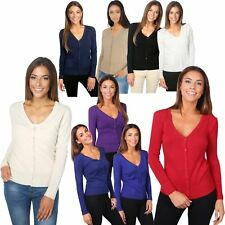 Femmes Cardigan Gilet Pull Chandail Manches longues Casual Basique Petite Maille