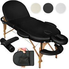 Table de massage cosmetique lit de massage reiki oval + accessoires set 3