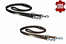 "1"" WIDE LEATHER POLICE DOG TRAINING LEAD WITH SOLID BRASS FITTING"
