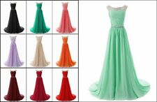 Chiffon Bridesmaid Dresses Prom Party Formal Evening Gowns Stock Size UK 6-20