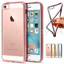 Shockproof Metal Silicone Case Clear Back Bumper for iPhone SE / 5S / 5 Cover