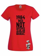GEORGE ORWELL 1984 INSPIRED BIG BROTHER GRAPHIC  HIGH QUALITY SKINNY T-SHIRT