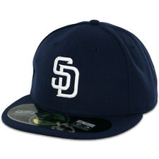"New Era 59Fifty San Diego Padres ""Alternate 1"" Fitted Hat Navy Blue Mens MLB Cap"