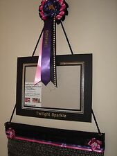 Show off your horse rosettes - with a personalised rosette and photo frame