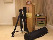 Professional Video & Photo Tripod w/ Fluid Ball Head, Extra Plate, Carry Case