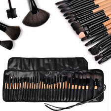 12/ 32tlg Professionelle Pinsel Set Make-up Echthaar Brush mit kosmetik Tasche &