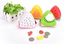 Friut Design Cute Coin Bag Purse Wallet With Zipper Red Yellow White Green