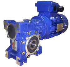 1.5kW Three Phase, Geared Motor, Worm Gearbox