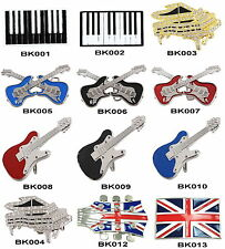 UK Musical Piano Guitar Belt Buckles with Free PU Belt -- UK Stock