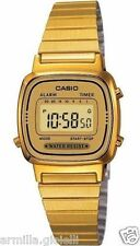 Orologio Digitale Donna Casio LA670WGA-9DF in Acciaio PVD Oro Sveglia Watch Lady