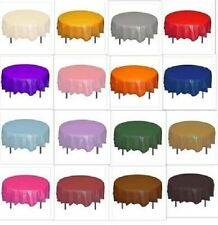 Red Green Blue Pink Orange Black 7ft (2.13m) Round Plastic Tablecloth Covers