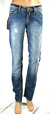 Jeans Donna Pantaloni MET Made in Italy Slim Fit Trousers C545 Tg da 25 a 33  **